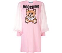 Kleid mit Teddy-Stickerei
