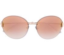 round frameless sunglasses