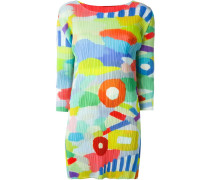 Plissiertes Kleid mit Print