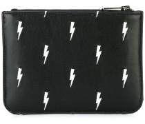 Portemonnaie mit Blitz-Print
