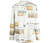 Hemd mit Zeitungs-Print