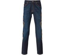 Jeans mit Stickerei