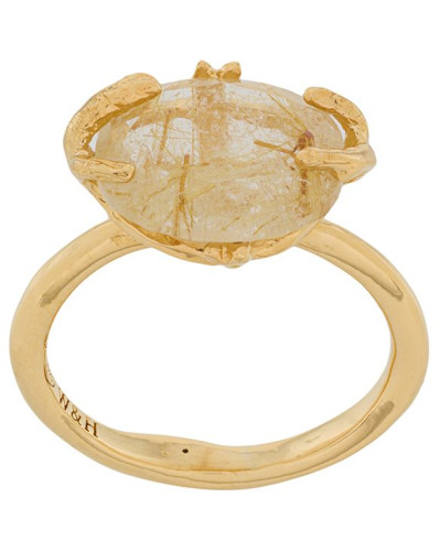 Ovaler Ring mit Rutilquarz