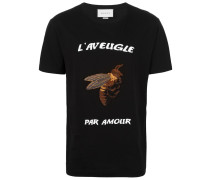 T-Shirt mit Bienen-Applikation