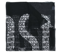 all-over logo print scarf