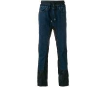 contrast panel straight-leg jeans