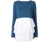 Pullover im Lagen-Look mit Rüschen