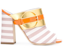'Deco Colour-Block & Stripes' Pantoletten