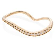 18kt 'Alessi' Goldring mit Diamanten