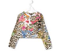 leopard and floral print sweatshirt