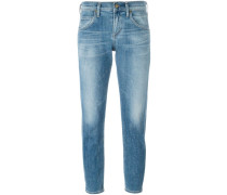 Cropped-Jeans mit schmalem Schnitt