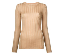 Gerippter Pullover - women - Wolle/Tencel