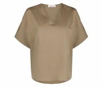 Ausgestellte Bluse mit V-Ausschnitt