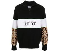 Sweatshirt mit Leoparden-Einsätzen