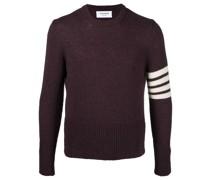 Grob gestrickter Pullover mit Streifen