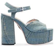 Jeans-Sandalen mit Plateausohle