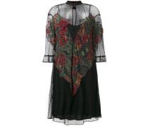 Semi-transparentes Kleid mit Einsatz