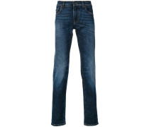 slim-fit appliquéd jeans