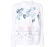 flamingo print sweater