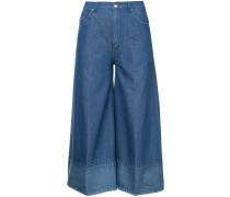- Cropped-Jeans mit weitem Bein - women