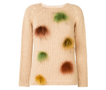 fur trim jumper