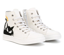 High-Top-Sneakers mit Katzenmotiv - kids