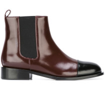two tone Chelsea boots