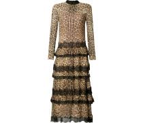 Seidenkleid mit Leopardenmuster - women - Seide