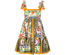 Majolica print mini dress