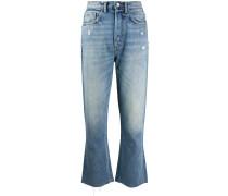 Ausgestellte 'Darcy' Cropped-Jeans