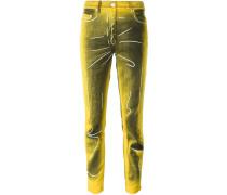 Jeans mit Trompe-l'œil-Print