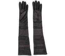 Handschuhe mit Webmuster