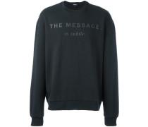 Sweatshirt mit Zitat-Print