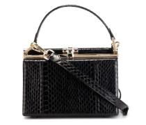 Feste Handtasche aus Leder