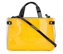 Mittelgroße Handtasche mit Logo-Prägung