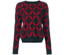 diamond print jumper