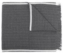 Wollschal mit seitlichen Streifen