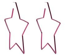 star-shaped hoop earrings