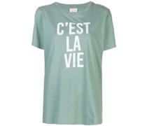 """T-Shirt mit """"C'est La Vie""""-Print"""