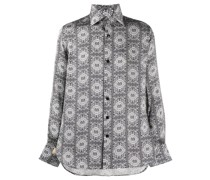 Seidenhemd mit Bandana-Print
