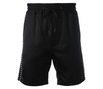 contrast piped trim shorts