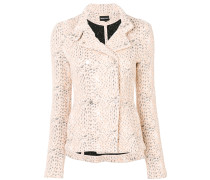 knit effect fitted jacket