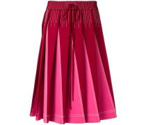 Technical pleated A-line skirt