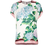 Seiden-T-Shirt mit floralem Print