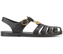 Sandalen mit Logo-Schnalle - men - rubber - 9