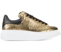 Metallische Sneakers mit breiter Sohle