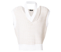 distressed knitted tank