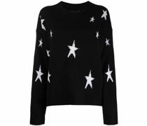 Kaschmirpullover mit Sternen