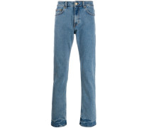 Jeans mit bedruckter Tasche