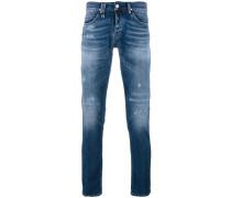 Schmale Jeans in Distressed-Optik - men